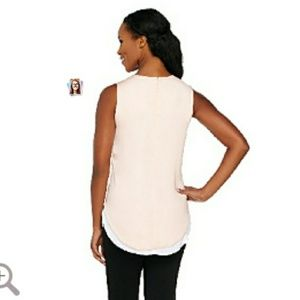 a361347b073426 George Kotsiopoulds Tops - G.K. Key hole high  low tank top